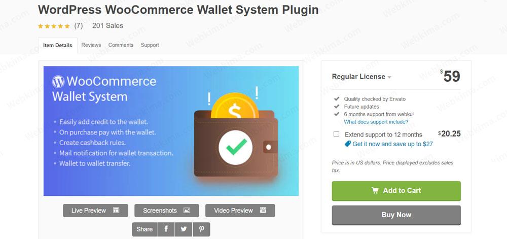 افزونه WooCommerce Wallet System