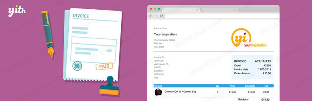 برترین پلاگین صدور فاکتور ووکامرس - YITH WooCommerce PDF Invoice