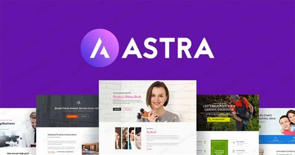 بهترین قالب شرکتی وردپرس رایگان - قالب آسترا