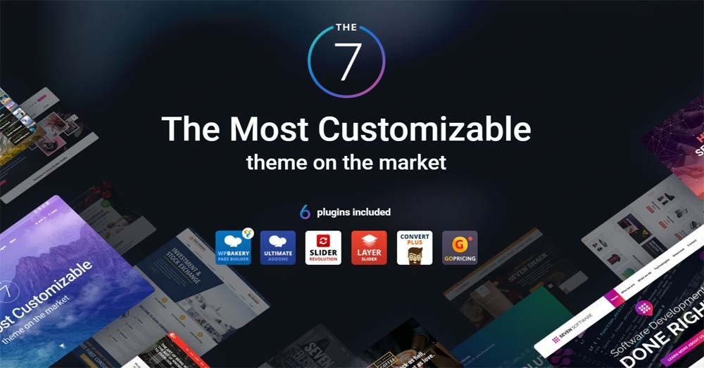 قالب چند منظوره The 7 یکی از بهترین قالب های شرکتی در وردپرس
