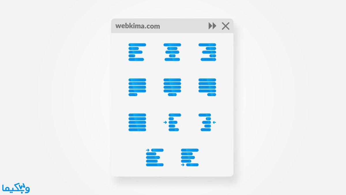 جاستیفای در وردپرس چیست؟ کد html جاستیفای