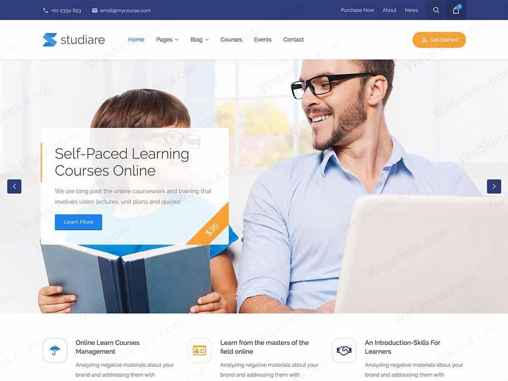 بهترین قالب آموزشی وردپرس - قالب Studiare