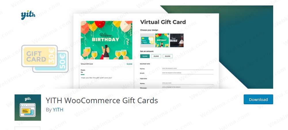 پلاگین کوپن تخفیف پیشرفته ووکامرس - YITH WooCommerce Gift Cards