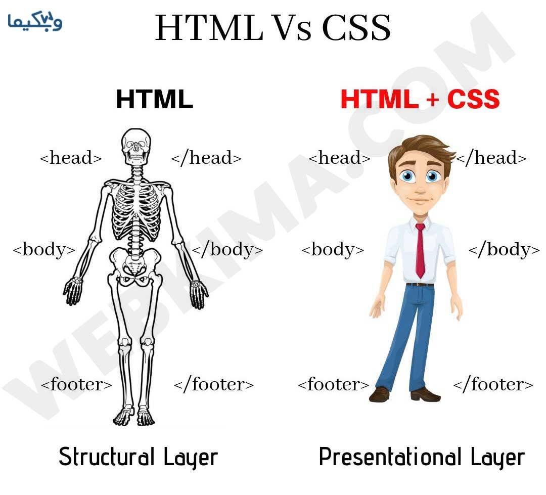 CSS چیست؟ فرق CSS و HTML را میتوانید در این تصویر مشاهده کنید!