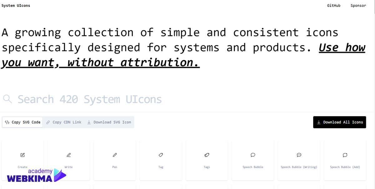 برترین سایتهای دانلود آیکون های رایگان - سایت System UIcons