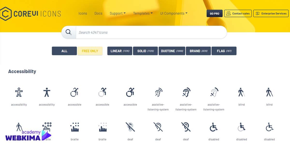 برترین سایتهای دانلود آیکون های رایگان - سایت CoreUI Icons